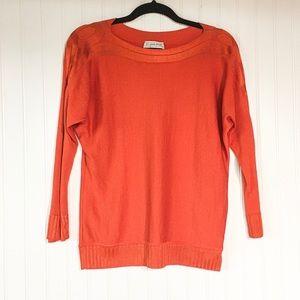 ✨ St.John Sport   Wool Bright Orange Cardigan
